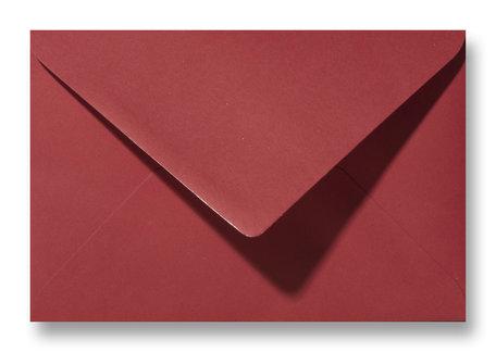 Envelop 12,5 x 17,6 cm (B6) Kerstrood