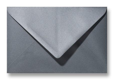 Envelop 12 x 18 cm Metallic Grey