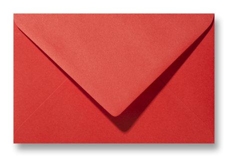 Envelop 12 x 18 cm Knalrood
