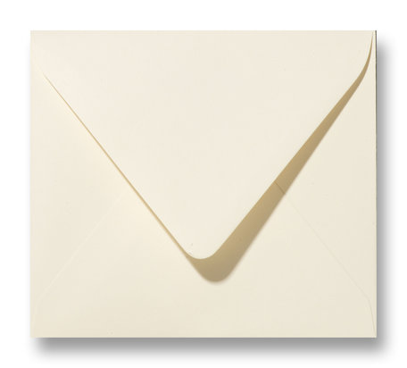 Envelop 12 x 12 cm Ivoor
