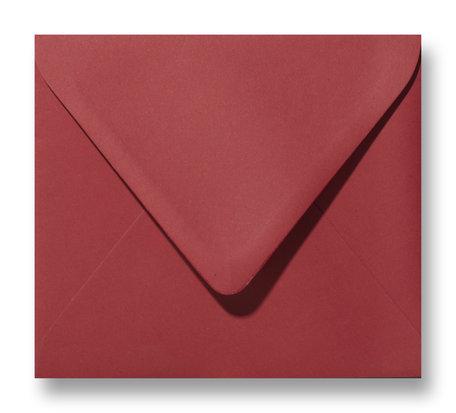 Envelop 12,5 x 14 cm Kerstrood