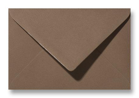 Envelop 11 x 15,6 cm Donker Bruin