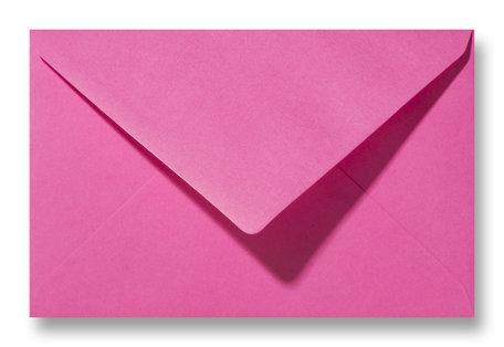 Envelop 12 x 18,5 cm Knalroze