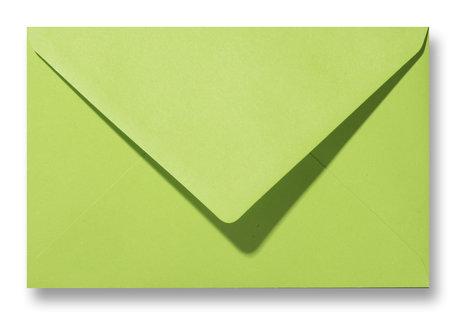 Envelop 12 x 18,5 cm Appelgroen