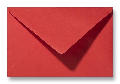 Envelop 12 x 18,5 cm Koraalrood