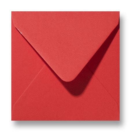 Envelop 12 x 12 cm Fiore Rood