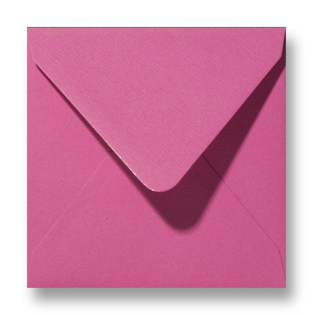 Envelop 12 x 12 cm Fiore Roze