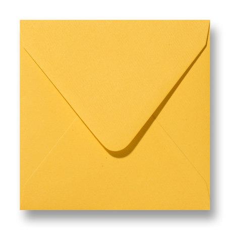 Envelop 12 x 12 cm Fiore Geel