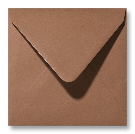 Envelop 14 x 14 cm Chocobruin