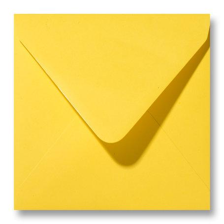 Envelop 14 x 14 cm Boterbloemgeel