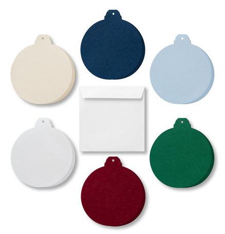 Kerstbal 4 stuks assorti incl envelop