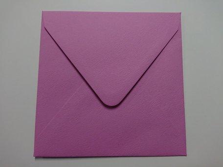 Envelop 14 x 14 cm Fiore Roze