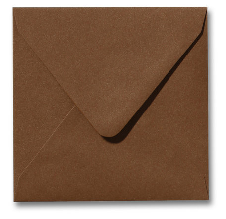 Envelop 14 x 14 cm Metallic Bronze