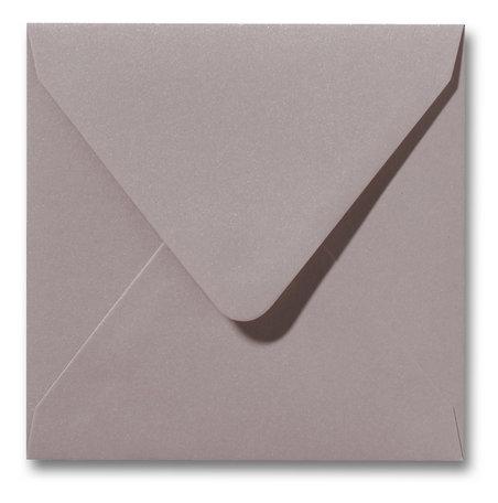 Envelop 14 x 14 cm Metallic Caramel