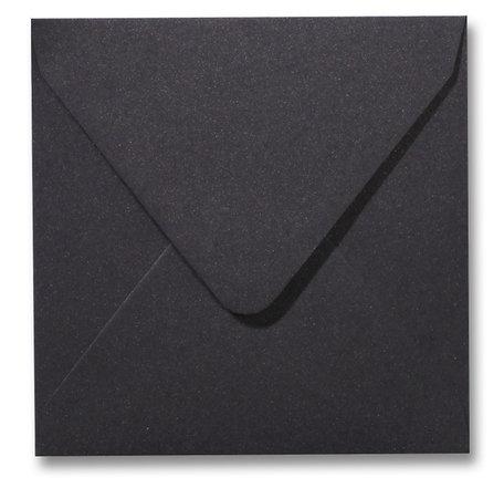 Envelop 14 x 14 cm Metallic Dark