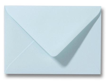 Envelop 11 x 15,6 cm Zachtblauw ONGEGOMD