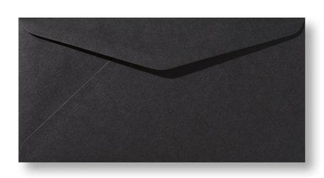 Envelop 11 x 22 cm zwart