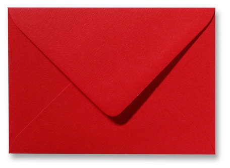 Envelop 9 x 14 cm Fiore Rood