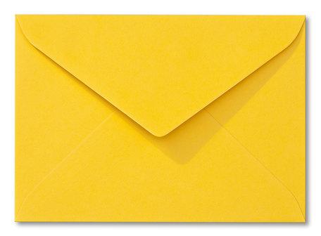 Envelop 9 x 14 cm Fiore Geel