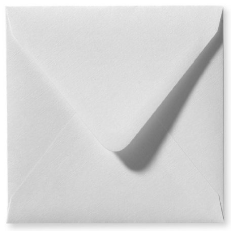Envelop 12 x 12 cm Wit Linnen