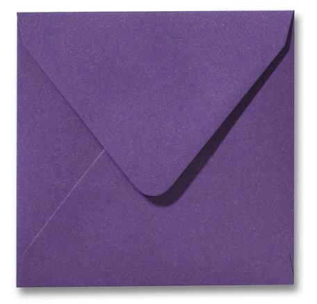 Envelop 16 x 16 cm Metallic Purple
