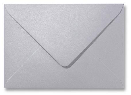 Envelop 9 x 14 cm Metallic Platinum