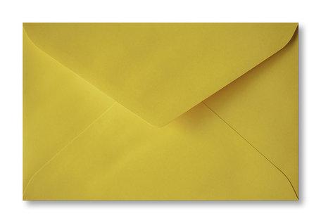 Envelop 12 x 18,5 cm Okergeel