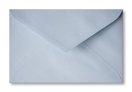 Envelop 12 x 18,5 cm Helderblauw