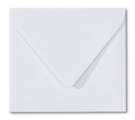 Envelop 12,5 x 14 cm Wit