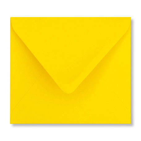 Envelop 12,5 x 14 cm Boterbloemgeel