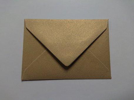 Envelop 8 x 11,4 cm Gold