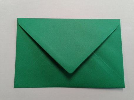 Envelop 12 x 18,5 cm Donkergroen
