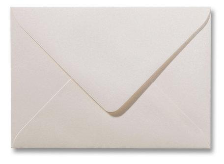 Envelop 15,6 x 22 cm Metallic Ivory