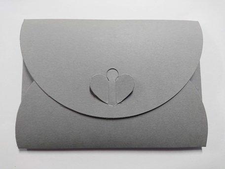 Cadeau Envelop 11 x 15,6 cm Donkergrijs