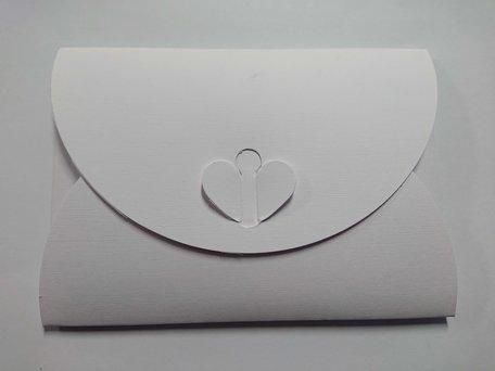 Cadeau Envelop 11 x 15,6 cm Wit Linnenpersing