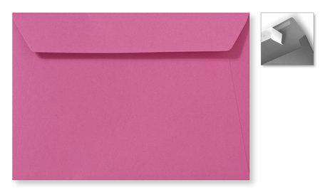 Envelop 15,6 x 22 cm Fucsia Striplock