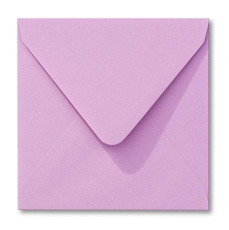 Envelop 14 x 14 cm Lila Structuur