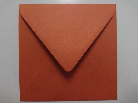 Envelop 14 x 14 cm Chocolade Bruin
