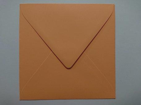 Envelop 14 x 14 cm Zalmrose