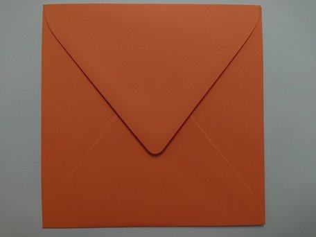 Envelop 14 x 14 cm Zalmroze