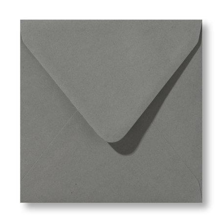 Envelop 14 x 14 cm Donkergrijs