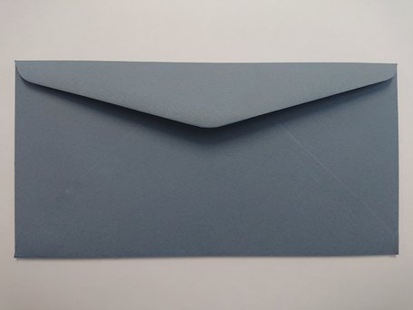 Envelop 11 x 22 cm Structuur Grijsblauw