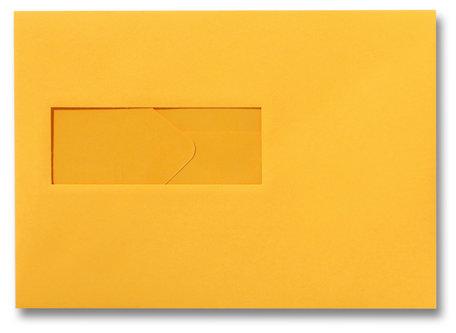 Envelop 15,6 x 22 cm Goudgeel venster