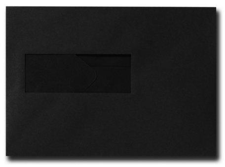 Envelop 15.6 x 22 cm Zwart venster