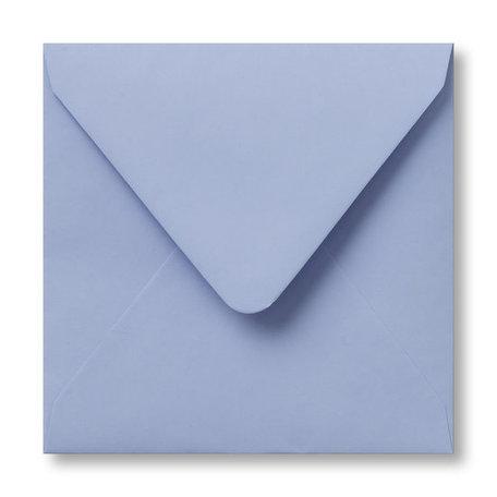 Envelop 12,5 x 14 cm Babyblauw