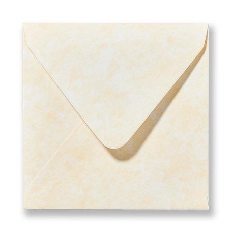 Envelop 14 x 14 cm Marmer Geel