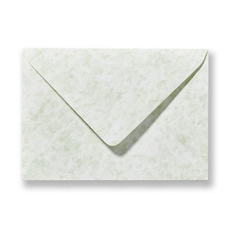 Envelop 11 x 15.6 cm Marmer Groen