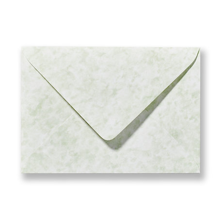 Envelop 12 x 18 cm Marmer Groen