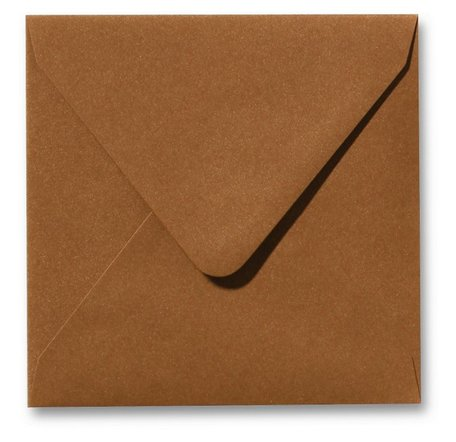 Envelop 16 x 16 cm Metallic Bronze