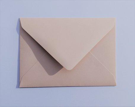 Envelop 8 x 11,4 cm Taupe